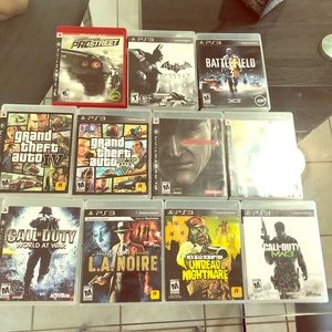 PS3 video games lot